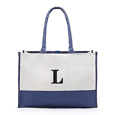 Colorblock Tote - Denim