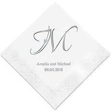Decorative Initial Printed Napkins
