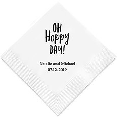 Oh Hoppy Day Printed Paper Napkins