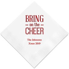 Bring on the Cheer Printed Napkins