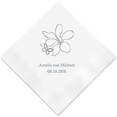 Floral Butterfly Printed Napkins