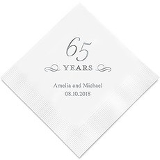 65 Years Printed Paper Napkins