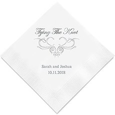 Tying the Knot Printed Wedding Napkins