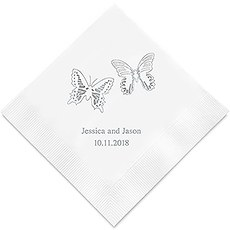 Beautiful Butterflies Printed Paper Napkins