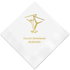 Martini Glasses Printed Napkins