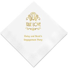 True Love Printed Paper Napkins