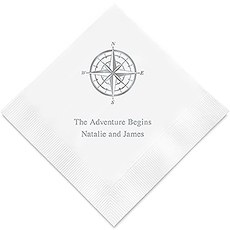 Vintage Travel Compass Printed Paper Napkins