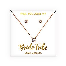 Personalized Bridal Party Crystal Jewelry Gift Set – Bride Tribe