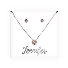 Personalized Bridal Party Crystal Jewelry Gift Set – Cursive Font
