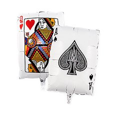 Mylar Foil Helium Party Balloon Decoration - Vegas Playing Cards