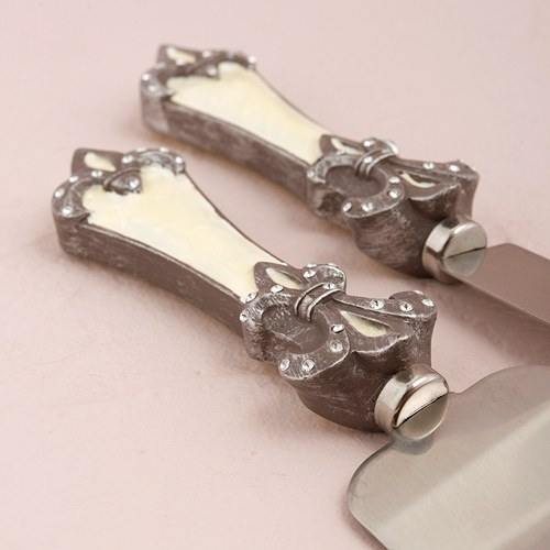 Fleur De Lis Wedding Cake Knife Set