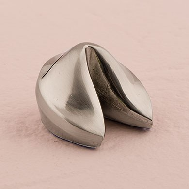 Silver Fortune Cookie Wedding Reception Place Card Holders