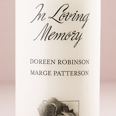 Ceremony Accessory Personalized Memorial Candle