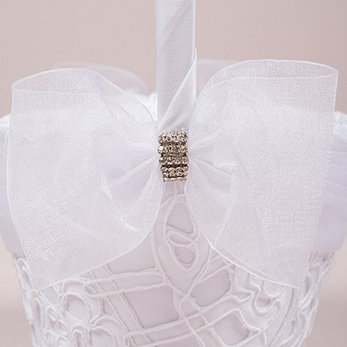 Bridal Tapestry Wedding Flower Girl Basket