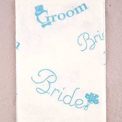 bride and groom printed wedding tissues