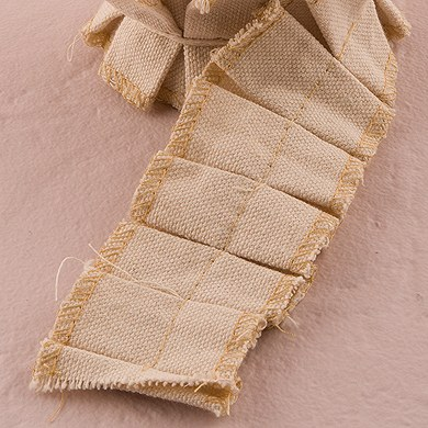 Ruffled Canvas Ribbon Trim
