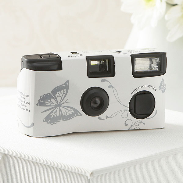 Butterfly Motif Single Use Disposable Wedding Camera