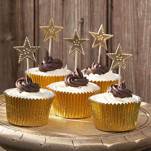 Gold Star Cake Decorations - Confetti.co.uk