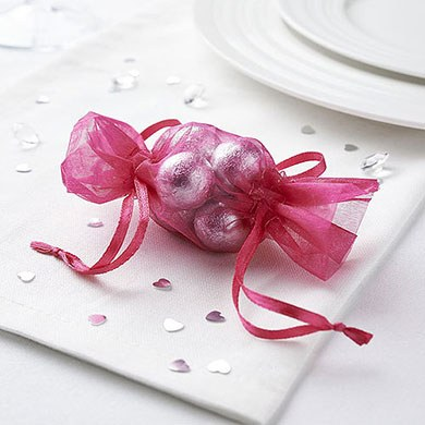 Mini Bonbon Organza Favor Bag Pack