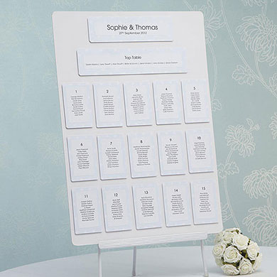 Shabby Chic Blue/White Table Planner Kit A2