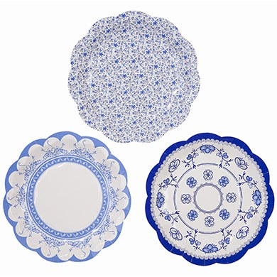 Blue Paper Plates Small
