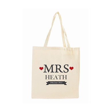 Personalized Mrs Cotton Tote Bag
