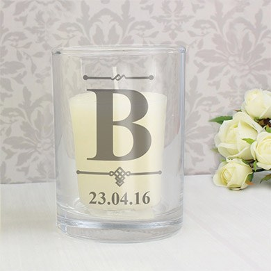 Personalized Votive Candle Holders   10 Pack