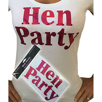 Hen Party - Iron on Logo