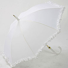 Wedding Umbrella with Frill
