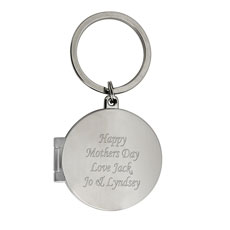 Round Photo Keyring Personalized