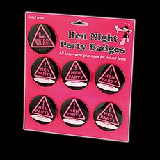 Hen Night Party Badges Pack