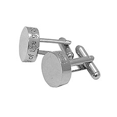 Father Of The Groom Cufflinks Gift Round
