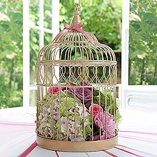 Large Gold Wedding Birdcage