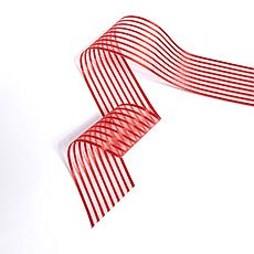 Wide Sheer Stripe Ribbon