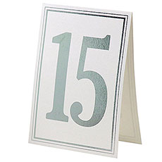 Elegant Border Wedding Table Numbers 11-20