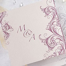Filigree Scroll Z Fold Evening Invitation