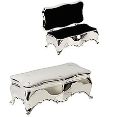 Large Silverplated Scalloped Edge Trinket Box