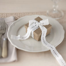 Vintage Affair - Just Married Ribbon - 4 Meters