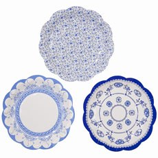 Blue Paper Plates - Small