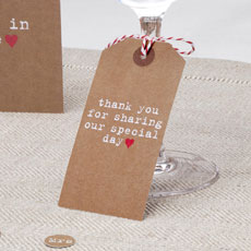 Just My Type Kraft Large Luggage Tags - 10 Pack