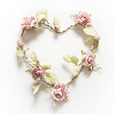 Heart Shaped Rose Wreath - Light Pink