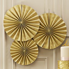 Gold Circle Fan Decorations
