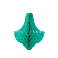 Extra Large Mint Green Hanging Paper Honeycomb