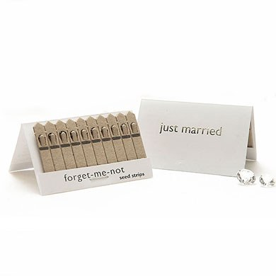 White and Silver Just Married Seed Favors Pack