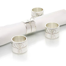 Vera Wang Love Knots Napkin Rings Pack
