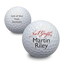 Personalized No.1 Golfer Ball