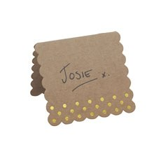 Kraft Gold Foil Place Cards - 10 Pack