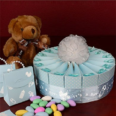 Baby Boy Shower Favor Kit  Single Tier
