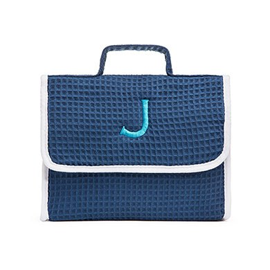 Stand Up Waffle Cosmetic Bag Slate Blue