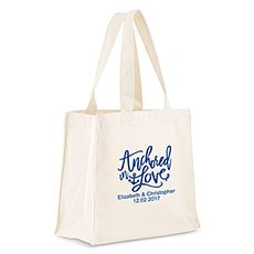Anchored In Love Personalized Tote Bag